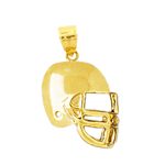 14k gold engravable football helmet charm