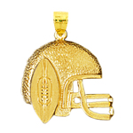 14k gold football helmet charm pendant