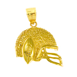 14k gold football helmet charm