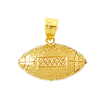 14k gold 20mm football charm