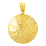 14k gold basketball pendant