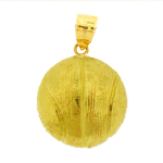 14k gold 3d basketball charm