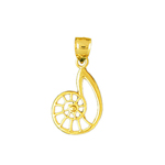 14k gold cut out sea snail charm