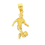 14kt gold soccer player charm