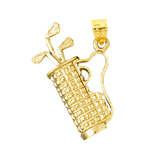 14k gold golf club bag pendant