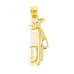 14k gold golf bag clubs charm