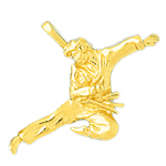 14k gold martial art charm pendant