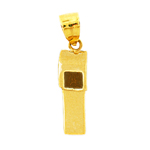 14k gold 3d whistle charm