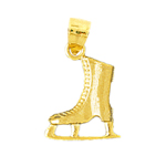 14k gold 3d ice skating charm