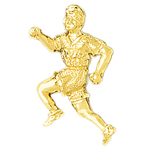 14k gold runner pendant