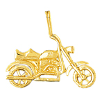 14k gold 30mm motorcycle charm pendant
