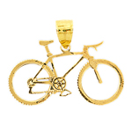 14k gold bicycle charm pendant