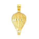 14k gold air balloon charm pendant