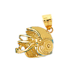 14k gold 3d football helmet charm