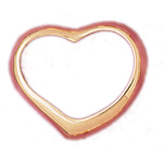 14kt gold 30mm floating heart pendant
