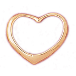 14k gold 30mm floating heart pendant
