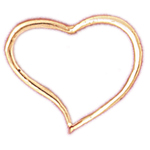 14k gold 20mm floating heart pendant
