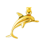 14k gold 24mm dolphin charm