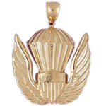 14k gold us air force emblem charm pendant