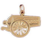 14k gold 20mm cannon charm