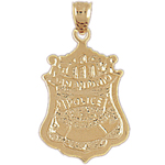 14k gold san antonio pd badge charm
