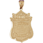 14k gold san antonio police department badge charm pendant