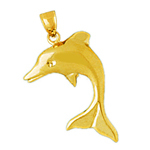 14 kt gold dolphin charm
