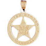 14k gold us marshal medallion