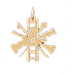 14k gold firefighter charm