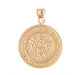 14k gold usa dept of the army medallion