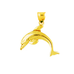 14 kt gold dolphin calf charm