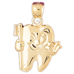 14k gold tooth charm