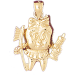 14k gold tooth, toothbrush and toothpaste charm