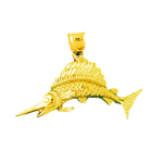 14 karat gold sailfish pendant