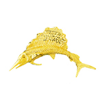 14kt gold sailfish pendant