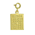 14k gold bingo card charm