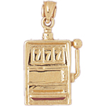 14k gold 777 slot machine charm