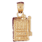 14k gold 777 slot machine 3d charm
