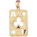 14k gold cutout ace of clubs charm
