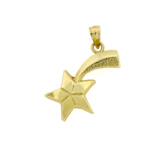 14k gold shooting star charm pendant