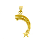 14k gold shooting star charm
