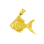 14k gold goldfish charm