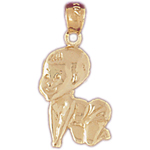 14k gold baby charm
