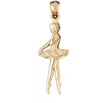 14k gold 26mm ballerina charm