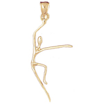 14k gold dancer pendant