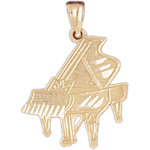 14k gold 21mm piano charm pendant