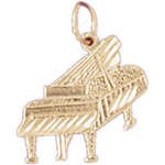 14k gold 18mm piano charm