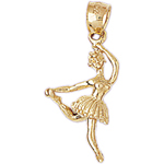 14k gold 21mm ballerina charm