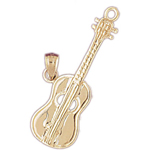 14k gold 23mm guitar charm pendant