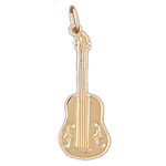 14k gold cello charm
